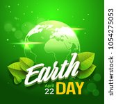 earth day card ecology... | Shutterstock .eps vector #1054275053