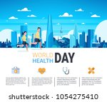 world health day infographic... | Shutterstock .eps vector #1054275410