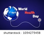 world health day poster earth... | Shutterstock .eps vector #1054275458