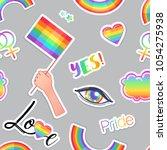 lgbt logo symbols stickers...   Shutterstock .eps vector #1054275938