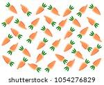 vector carrot pattern for... | Shutterstock .eps vector #1054276829