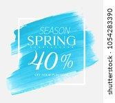 spring sale 40  off sign over...   Shutterstock .eps vector #1054283390