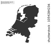 netherlands map vector flat... | Shutterstock .eps vector #1054284236
