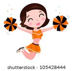 active,adorable,beautiful,beauty,black,brunette,cartoon,character,cheer,cheerful,cheerleader,cheerleading,clipart,color,contrast