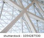 modern glass facade metal...   Shutterstock . vector #1054287530