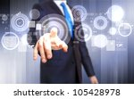 business person working with... | Shutterstock . vector #105428978