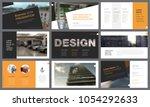 orange and black infographic...   Shutterstock .eps vector #1054292633