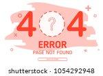 404  error page not found... | Shutterstock .eps vector #1054292948