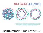 big data science vector... | Shutterstock .eps vector #1054295318