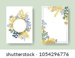vector invitation cards with... | Shutterstock .eps vector #1054296776