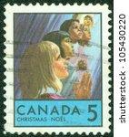 canada   circa 1969  a greeting ... | Shutterstock . vector #105430220