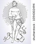 greek god  the mythological... | Shutterstock .eps vector #1054302494