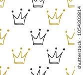 hand drawn seamless pattern... | Shutterstock .eps vector #1054303814