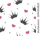 hand drawn seamless pattern... | Shutterstock .eps vector #1054303823