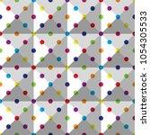 seamless colorful polka dot...   Shutterstock .eps vector #1054305533