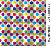 seamless colorful polka dot...   Shutterstock .eps vector #1054305536