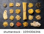 various pasta. cooking concept. ... | Shutterstock . vector #1054306346