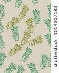 seamless leaves pattern. vector ... | Shutterstock .eps vector #1054307183