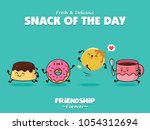 vintage food poster design with ... | Shutterstock .eps vector #1054312694