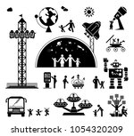 modern technology era. various... | Shutterstock .eps vector #1054320209