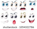 different set of eyes with...   Shutterstock .eps vector #1054322786