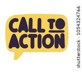 call to action. vector hand... | Shutterstock .eps vector #1054324766