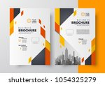 flyer brochure design  business ...   Shutterstock .eps vector #1054325279