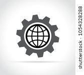 illustration of earth in gear... | Shutterstock .eps vector #1054328288