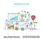 performance evaluation working  ... | Shutterstock .eps vector #1054330658