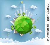 environmental illustration with ... | Shutterstock .eps vector #1054333520