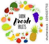 vector illustration of fruits... | Shutterstock .eps vector #1054337753