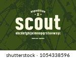 original lowercase sans serif... | Shutterstock .eps vector #1054338596