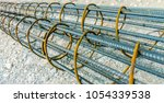 steel reinforcement of piling... | Shutterstock . vector #1054339538