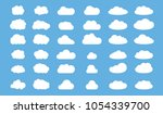 set of clouds in blue sky.... | Shutterstock .eps vector #1054339700