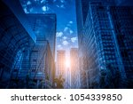 skyscrapers' low angle view in... | Shutterstock . vector #1054339850
