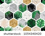 marble seamless background with ... | Shutterstock .eps vector #1054340420