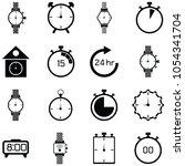 watch icon set | Shutterstock .eps vector #1054341704