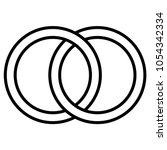 interlocking circles icon sign  ... | Shutterstock .eps vector #1054342334