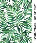 seamless tropical jungle... | Shutterstock .eps vector #1054346024