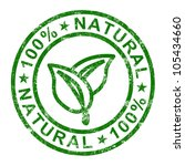 100  natural stamp showing pure ... | Shutterstock . vector #105434660