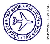 par avion stamp showing... | Shutterstock . vector #105434738