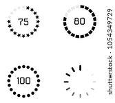 loading icon set   Shutterstock .eps vector #1054349729