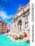 Small photo of Rome, Italy. Famous Trevi Fountain and Palazzo Poli (Italian: Fontana di Trevi) in italian city of Roma.
