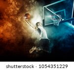 basketball player in action in... | Shutterstock . vector #1054351229