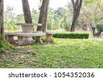 field dress made of terrazzo... | Shutterstock . vector #1054352036