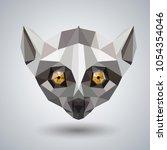 abstract polygonal tirangle... | Shutterstock .eps vector #1054354046