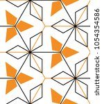 seamless geometric pattern with ... | Shutterstock .eps vector #1054354586