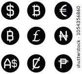 currency icon set | Shutterstock .eps vector #1054356860
