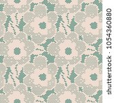 seamless flower lace pattern on ... | Shutterstock .eps vector #1054360880