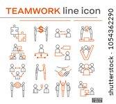 set of teamwork icons. | Shutterstock .eps vector #1054362290
